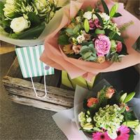 Mixed Handtied Bouquet presented in a luxury gift bag from